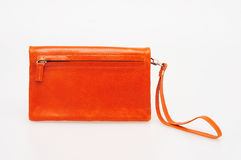 Orange purse Royalty Free Stock Image