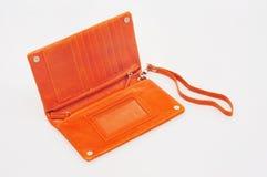 Orange purse Royalty Free Stock Photography