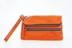 Orange purse Royalty Free Stock Photo