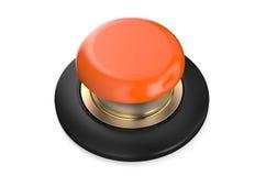 Orange push button Stock Photos