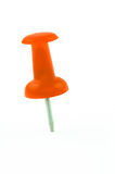 Orange pushpin isolated Royalty Free Stock Photo