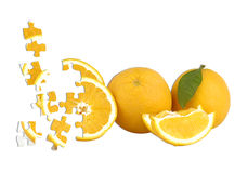 Orange puzzle Stock Photo