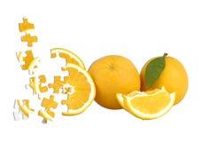 Orange puzzle Stock Photo