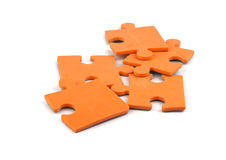 Orange puzzle Stock Image
