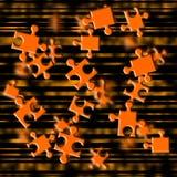 Orange puzzle fly Stock Photos