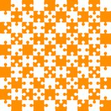 Orange Puzzle Pieces - JigSaw Vector - Field Chess. Orange Puzzle Pieces in a White Square - JigSaw - Vector Illustration. Vector Background. Field for Chess Royalty Free Stock Images