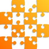 Orange Puzzle Pieces - JigSaw - Field for Chess. Royalty Free Stock Photo