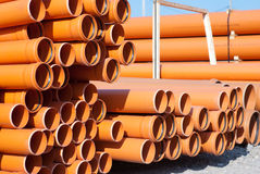 Orange PVC pipes Royalty Free Stock Photography