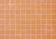 Orange Quadrat deckt Muster mit Ziegeln Stockfotografie