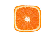 Orange quadratisches slince Lizenzfreie Stockfotos