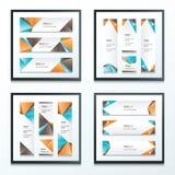 Orange réglé de bannière, bleu, brun Image stock
