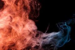 Orange rök Weipa för abstrakt turkos Royaltyfri Fotografi