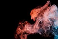Orange rök Weipa för abstrakt turkos Royaltyfri Foto