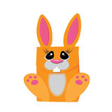 Orange rabbit. Packaging for gifts. Stock Photography