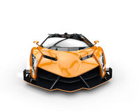 Orange race supercar Royalty Free Stock Image