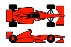 Orange racing Royalty Free Stock Photos