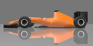 Orange racing car Royalty Free Stock Image