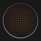 Orange Radar Grid Stock Photography