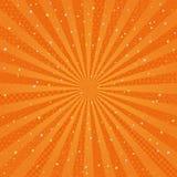 Orange radial background with Japanese design. Royalty Free Stock Photo