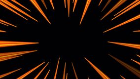 Orange radial velocity lines for flash action overlay