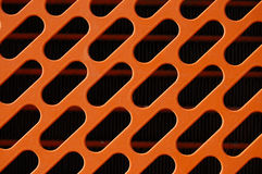 Orange radiator grille Royalty Free Stock Photography