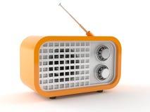 Orange radio. Isolated on white background stock illustration