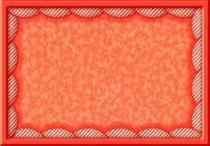 Orange Rahmen mit runden Grenzen des Gewebes Stockbilder