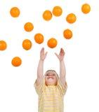 Orange rain Royalty Free Stock Image