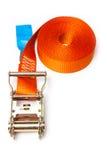 Orange ratchet strap Stock Image