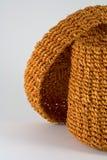 Orange rattan basket Stock Photography