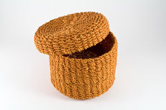 Orange rattan basket Royalty Free Stock Image