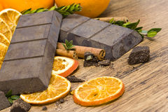 Orange raw  chocolate Stock Photo