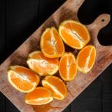 Fruit Orange natural food raw Gourmet. Orange Raw fruit black natural food gasta Gourmet healthy delicious stock photos