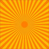 Orange ray burst Stock Images