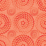 Orange ray roll semless pattern. This illustration is design and drawing orange colors with ray circle in symmetry background and seamless pattern Stock Images
