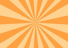 Orange Rays. Starburst, or sunburst Stock Image