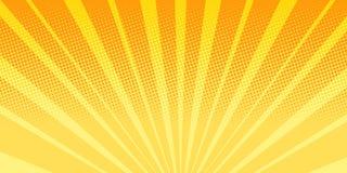 Orange rays sunrise abstract background. Pop art retro vector illustration comic cartoon vintage kitsch drawing royalty free illustration