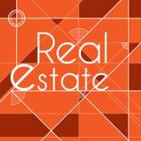 Orange Real Estate bakgrund Royaltyfri Fotografi