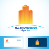Orange real estate building logo Royalty Free Stock Photography