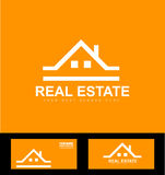 Orange real estate company logo icon Stock Photography