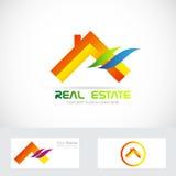 Orange real estate house logo Stock Photos