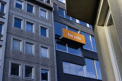 Orange real estate sign Royalty Free Stock Photography