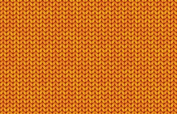 Orange realistic simple knit texture vector seamless pattern Royalty Free Stock Photo
