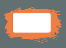 Orange rectangle watercolor brush strokes frame. With white copy space on gray background. Vector illustration vector illustration