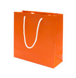 Orange recycle paper Shopping bag Royalty Free Stock Photo