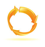 Orange recycle symbol Royalty Free Stock Photo
