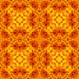 Orange red abstract texture. Detailed caleidoscope effect background illustration. Textile print pattern. Geometric seamless tile. Orange red abstract texture Stock Image