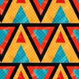 Orange Red And Blue Polygons. Seamless Pattern. Vector Illustration Stock Photography