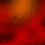 Orange, red, black low poly background Royalty Free Stock Image