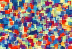 Orange red and blue square pattern abstract. Background Royalty Free Stock Photos